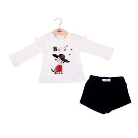 Conjunto de camiseta y short de Baby bol para niñas