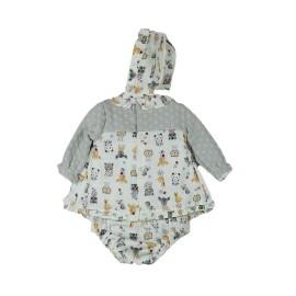 Vestido 3 Piezas Bebé Niña Baby-Ferr Animalitos