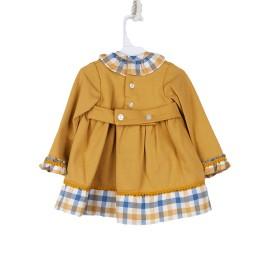Vestido Niña Baby-Ferr Mostaza Manga Larga