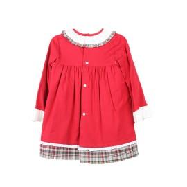 Vestido Baby-Ferr Niña Rojo Navideño Manga Larga