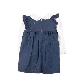 Vestido Baby-Ferr Niña Tejano 2 Piezas