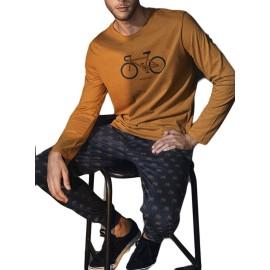 Pijama Invierno Hombre Antonio Miró Bolsillos Bicicleta