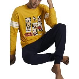 Pijama Disney Hombre Mickey Invierno Algodón