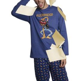 Pijama Hombre Disney Animal Bolsillos Invierno