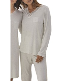 Pijama Admas Clásico Mujer Cuello Pico