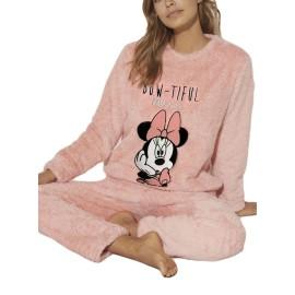 Pijama Disney Mujer Minnie Coralina Calentito