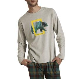 Pijama Hombre National Geographic Oso Bolsillos