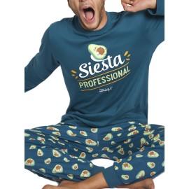 Pijama Hombre Mr. Wonderful Siesta Aguacate