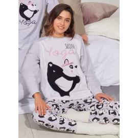 Pijama Panda Mujer Admas Invierno Yoga