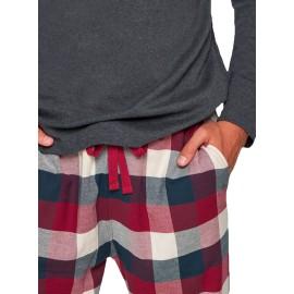 Pijama Muydemi Invierno Hombre Clásico Cuadros