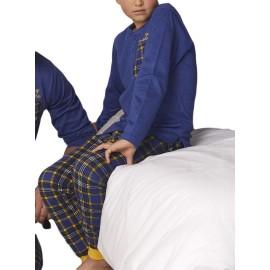 Pijama Admas Niño Cuadros Invierno Algodón