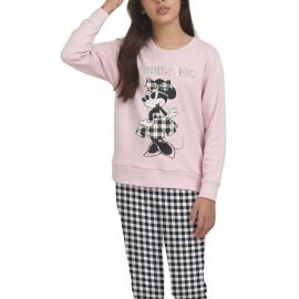 Pijama Niña Disney Minnie Cuadros Chic
