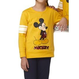 Pijama Niña Mickey Disney Lentejuelas Puños