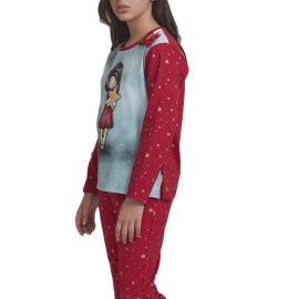 Pijama Gorjuss Niña Navideño Rojo Estrella