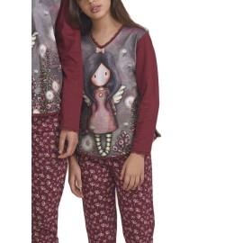 Pijama Gorjuss Niña Invierno Angel Algodón Navidad