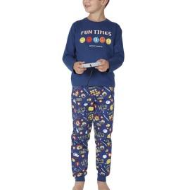 Pijama Niño Smiley Invierno Videojuegos Puños