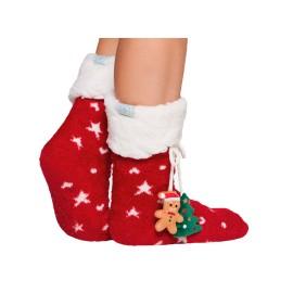 Calcetín Muydemi Mujer Navidad Rojo