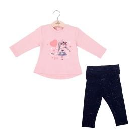 Camiseta y legging Baby bol algodón con brillo