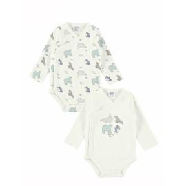 Bodi bebé algodón pack 2 unidades animalitos