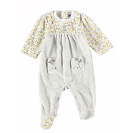 Pelele bebé Yatsi terciopelo bolsillos animalitos.