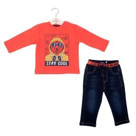 Camiseta y tejano elástico niño Baby bol